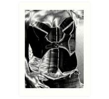 """Me #2..... in """"pewter""""....liquid metal.... Art Print"""