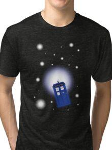 TARDIS In Space Tri-blend T-Shirt