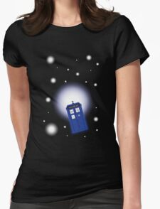 TARDIS In Space Womens Fitted T-Shirt