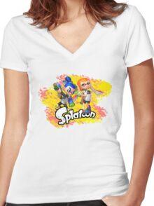 Splatoon Inklings Women's Fitted V-Neck T-Shirt
