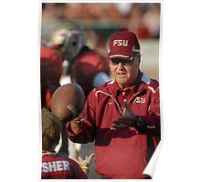 Coach Bowden Playin with a soon to be Nole Poster