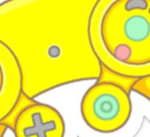 Yellow Retro Controller 2 Sticker