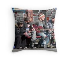 Buskers in Brunswick street, Melbourne. Throw Pillow