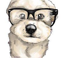 Nerd Dog  by frostwolf0303
