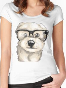 Nerd Dog  Women's Fitted Scoop T-Shirt