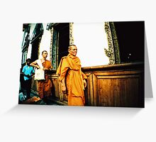 Monks Greeting Card