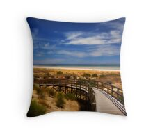 Largs Bay Boardwalk Throw Pillow