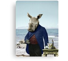 Mr. Rhino's Day at the Beach Canvas Print