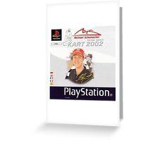 Michael Schumacher Racing World Kart 2002 Greeting Card