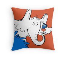 Horton Hears Doctor Who! Throw Pillow