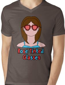 Rose Tinted Glasses Mens V-Neck T-Shirt
