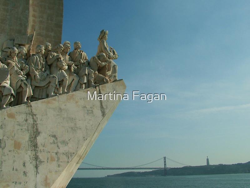 Vasco da Gama in Lisbon harbour. by Martina Fagan
