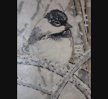 Trip-O-Vision Online Gallery Design 43: Winter Bird Painting Unisex T-Shirt
