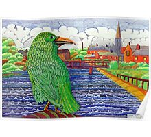 391 - THE GREEN RAVEN - DAVE EDWARDS - FINELINERS - 2013 Poster