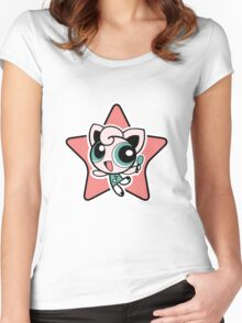 Jigglypuff Girl! Women's Fitted Scoop T-Shirt