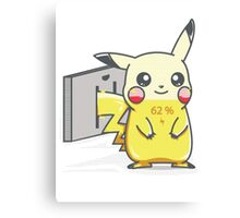 Pikachu is Charging Canvas Print
