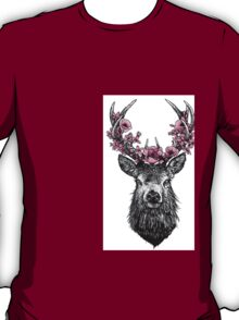 Stag with Blossom T-Shirt