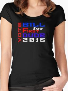 Vote Bill for First Dude 2016 Women's Fitted Scoop T-Shirt
