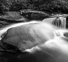 Falling Water on Granite by Austin Weaver