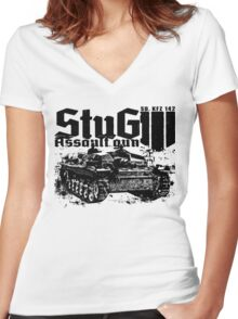 StuG III Women's Fitted V-Neck T-Shirt
