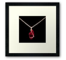 intense red crystal gold necklace mon bijou by neonflash Framed Print