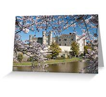Easter Blossom: Leeds Castle. Kent UK Greeting Card