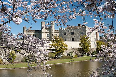 Easter Blossom: Leeds Castle. Kent UK by DonDavisUK
