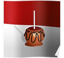 Candy Apple, red and caramel Poster