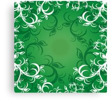 Background with ornament Canvas Print