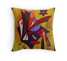 Step Lively Now - Card Throw Pillow