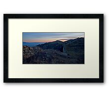 Sunrise at the Wall 3 Framed Print