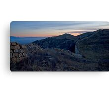 Sunrise at the Wall 3 Canvas Print