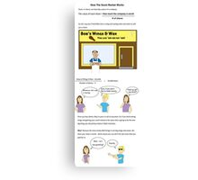 How The Stock Market Works  Canvas Print