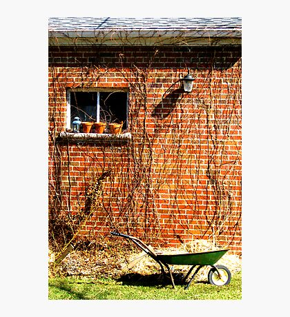 Brick Garage Photographic Print