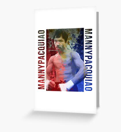 "Manny Pacquiao ""Pac-Man"" Greeting Card"