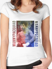 "Manny Pacquiao ""Pac-Man"" Women's Fitted Scoop T-Shirt"