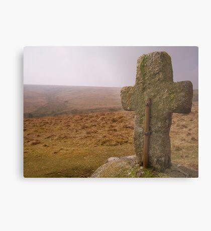 Dartmoor: Crosses Series - Horse Ford  Metal Print