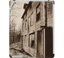 Back View of the Deserted Mill Workers Home in Daguerreotype  iPad Case/Skin