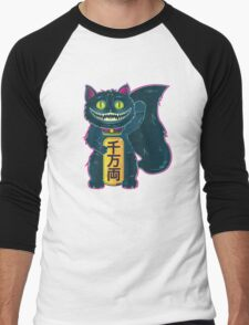 THE CHESHIRE MANEKI-NEKO CAT Men's Baseball ¾ T-Shirt
