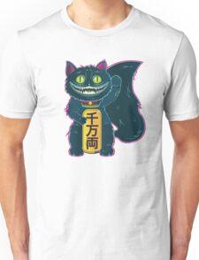 THE CHESHIRE MANEKI-NEKO CAT Unisex T-Shirt
