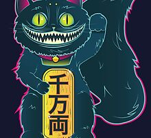 THE CHESHIRE MANEKI-NEKO CAT by tokkebi