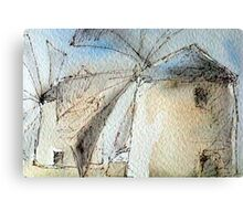 Greek Windmills Canvas Print