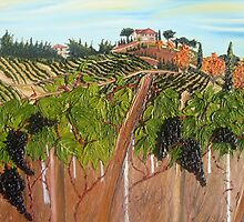 Tuscany Wine Vineyard  by theonejd07