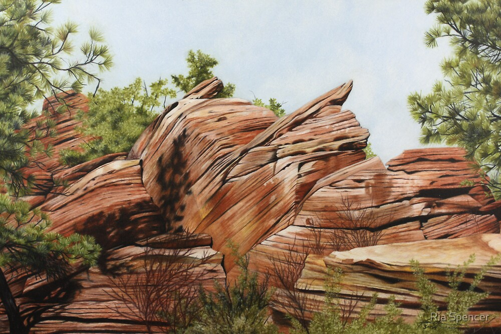 Zions Canyon #2 by Maria Hathaway Spencer