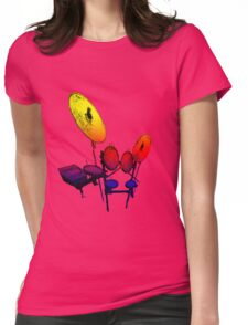 Electric Drum Womens Fitted T-Shirt