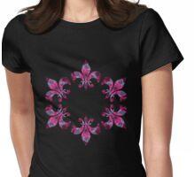 Fractal Fluer-de-lis Womens Fitted T-Shirt