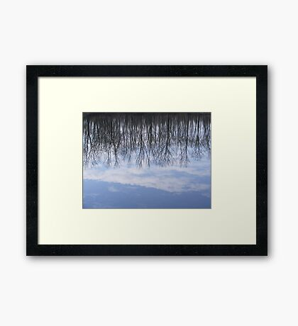 reflected clouds Framed Print