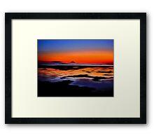 beautiful sunset seascape landscape Framed Print