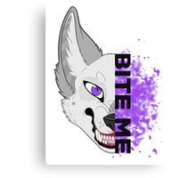 BITE ME - Scylla Purple Canvas Print