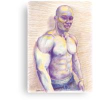Black Bodybuilder Canvas Print